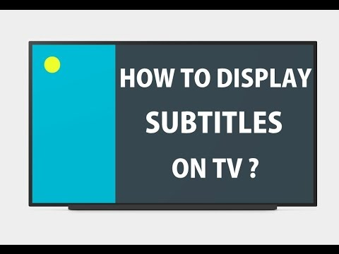 How to add subtitles to movie on TV?