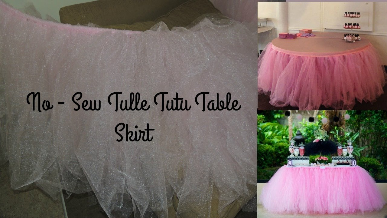 No Sew Tulle Tutu Table Skirt