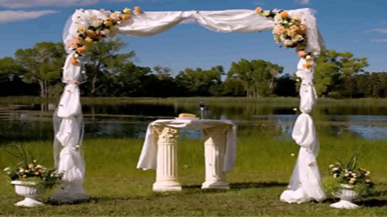 Diy Decorating Wedding Arch - YouTube
