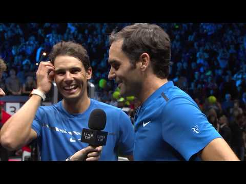 Federer/Nadal on court interview (Match 8) | Laver Cup 2017