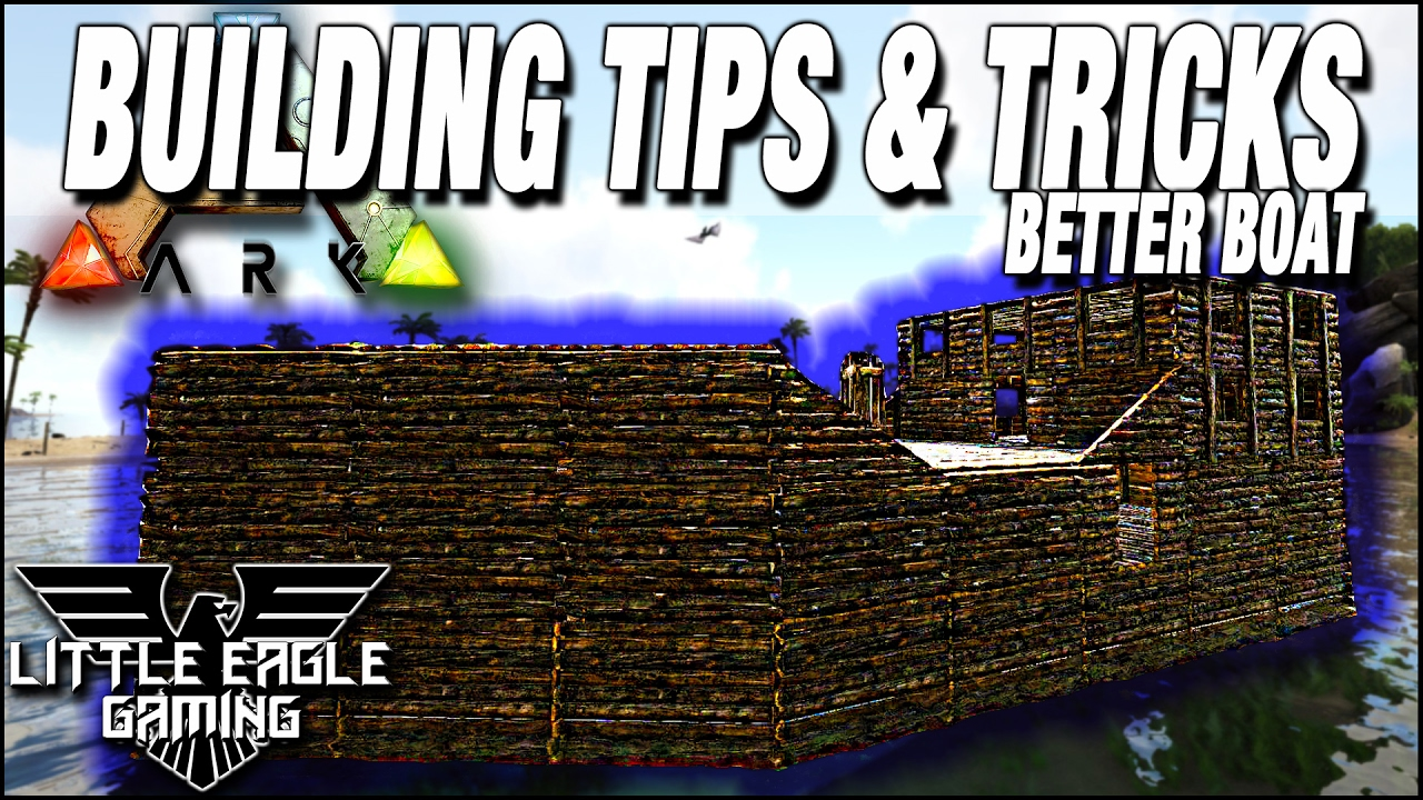 #ArkSurvivalEvolved Building Tips/tricks | How To Build A Pirate Ship With Structures  Plus