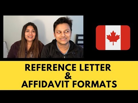 Reference Letter & Affidavit Formats | Canada PR | Express Entry | Download Formats
