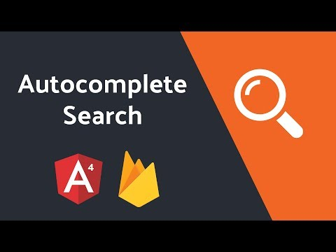 Autocomplete Search with Angular4 and Firebase