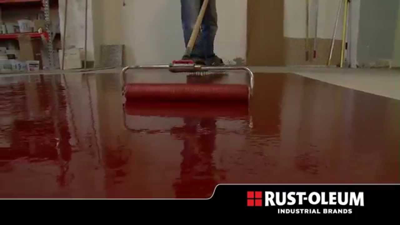 Rust oleum industrial heavy metal decorative floor for Concrete floor coatings