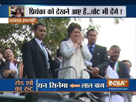 Lucknow: Priyanka Gandhi Vadra begins her road show