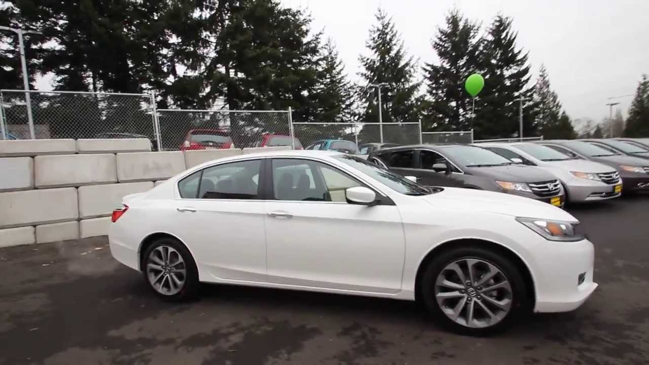 Honda Accord Sport 2013 >> 2014 Honda Accord Sport | White Orchid | EA120300 | Seattle | Renton - YouTube
