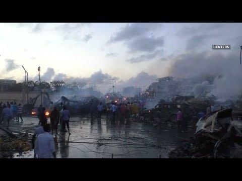 Dual car bombs kill at least 22 in Somalia's Mogadishu
