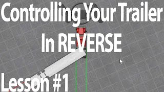 Trucking Lesson#1 - C๐ntrolling Your Trailer and Straight backing