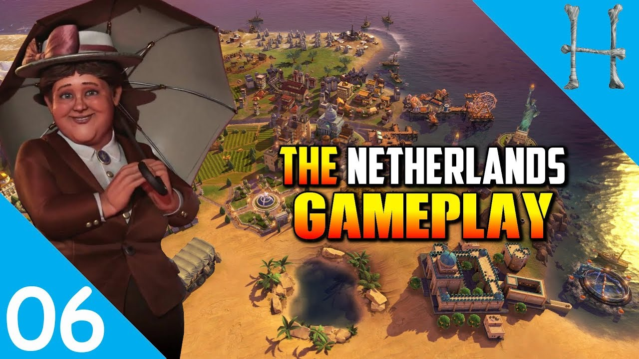 Civilization 6 Rise & Fall - Netherlands Gameplay #6 - Polders Incoming