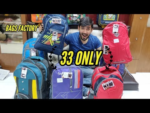 wholesale bags market | Bag Manufacturer Delhi | School bags and Traveling bags | bag cheap price