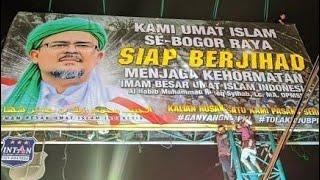 Geger Baleho Raksasa Habib Rizieq di Bogor Raya,Ribuan Orang Takbiran Dibawahnya!!