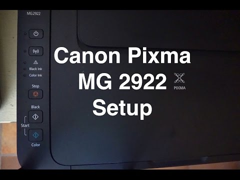 CANNON MG2922 DRIVERS PC