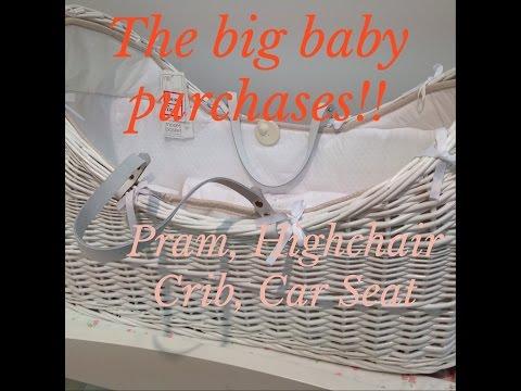 New Pram Cot Crib + Highchair | New Baby Girl Purchases | June 14