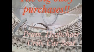 New Pram Cot Crib + Highchair | New Baby Girl Purchases | June 14