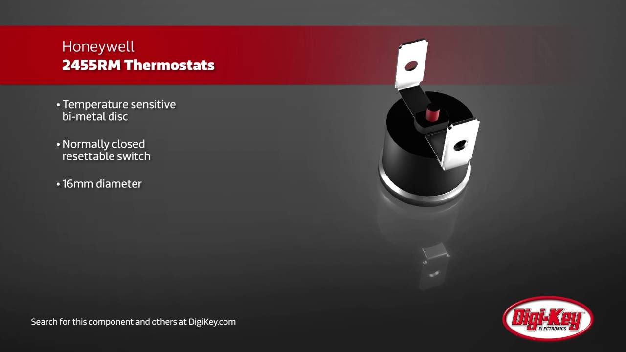 Honeywell 2455RM Manual Reset Thermostats | Digi-Key Daily