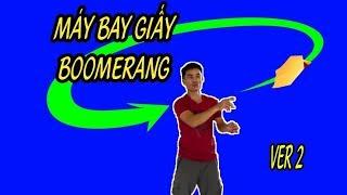 Cách Gấp Máy Bay Boomerang Ver 2, Boomerang Paper AirPlane #XTT