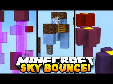 Minecraft SKY BOUNCE PARKOUR! - w/PrestonPlayz, Vikkstar123 & CampingRusher
