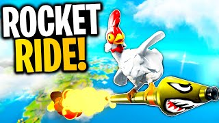 Can You ROCKET RIDE A CHICKEN? | Fortnite Mythbusters!