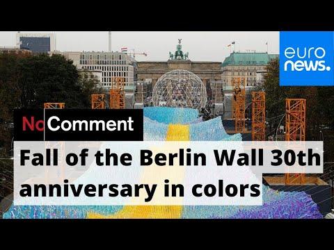 Berlin's Brandenburg Gate Gets All Aflutter