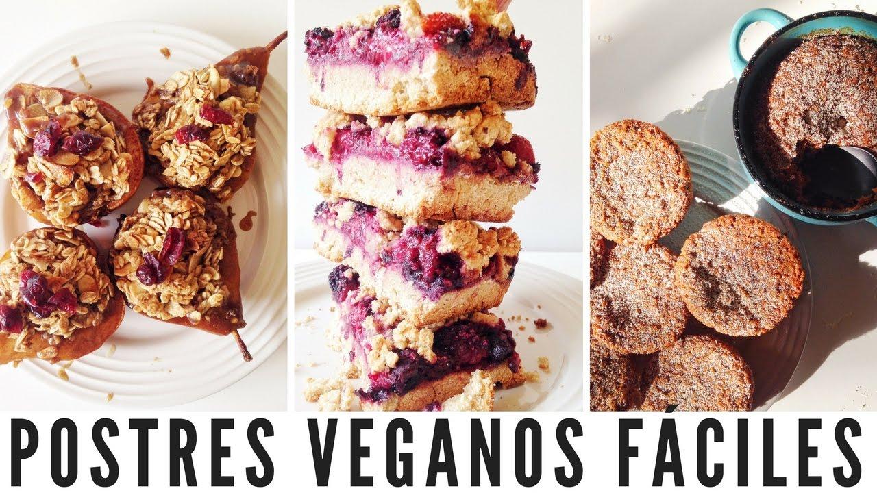 Postres veganos f ciles vida vegana youtube for Postres faciles