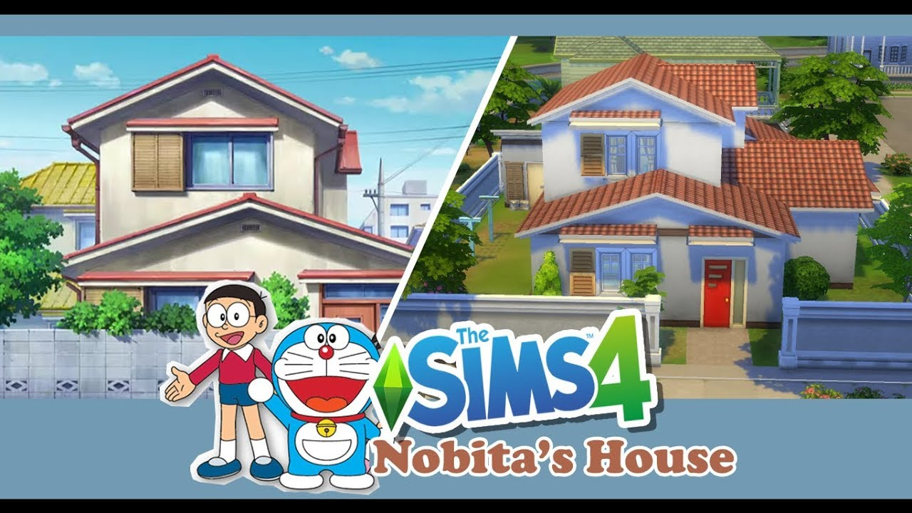 [The Sims 4] สร้างบ้านโนบิตะ Doraemon \u0026 Nobita's House (speed build)