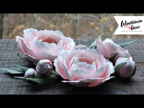 Paper Flower Tutorial - Ball Peony with Buds