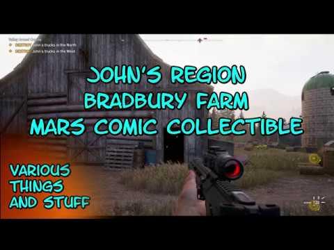 Far Cry 5 John's Region Bradbury Farm Mars Comic Collectible