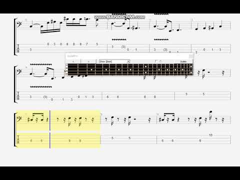 AEROPLANE BASS TAB (RED HOT CHILI PEPPERS)