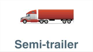 Learning TV for kids:  Drawing cargo ship, van, utility truck, semi-trailer and a forklift.