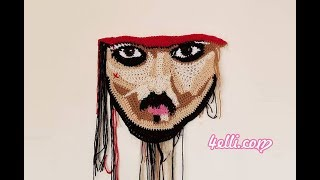 Freeform Crochet: Captain Jack Sparrow Portrait