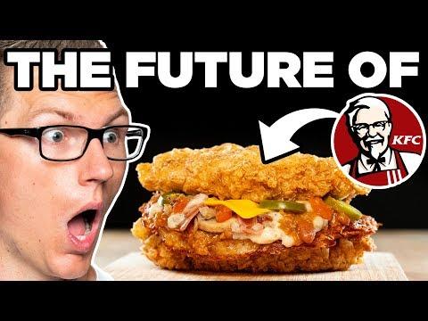 KFC Waffle House Hash Brown Double Down Taste Test | FUTURE FAST FOOD