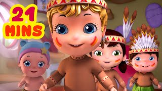 Five Little Babies Looking For A Bear_Number Song Collection | Rhymes & Baby Songs | Infobells
