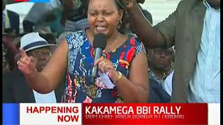 Governor Waiguru speaks Luhya in her speech during  #KAKAMEGA BBI RALLY