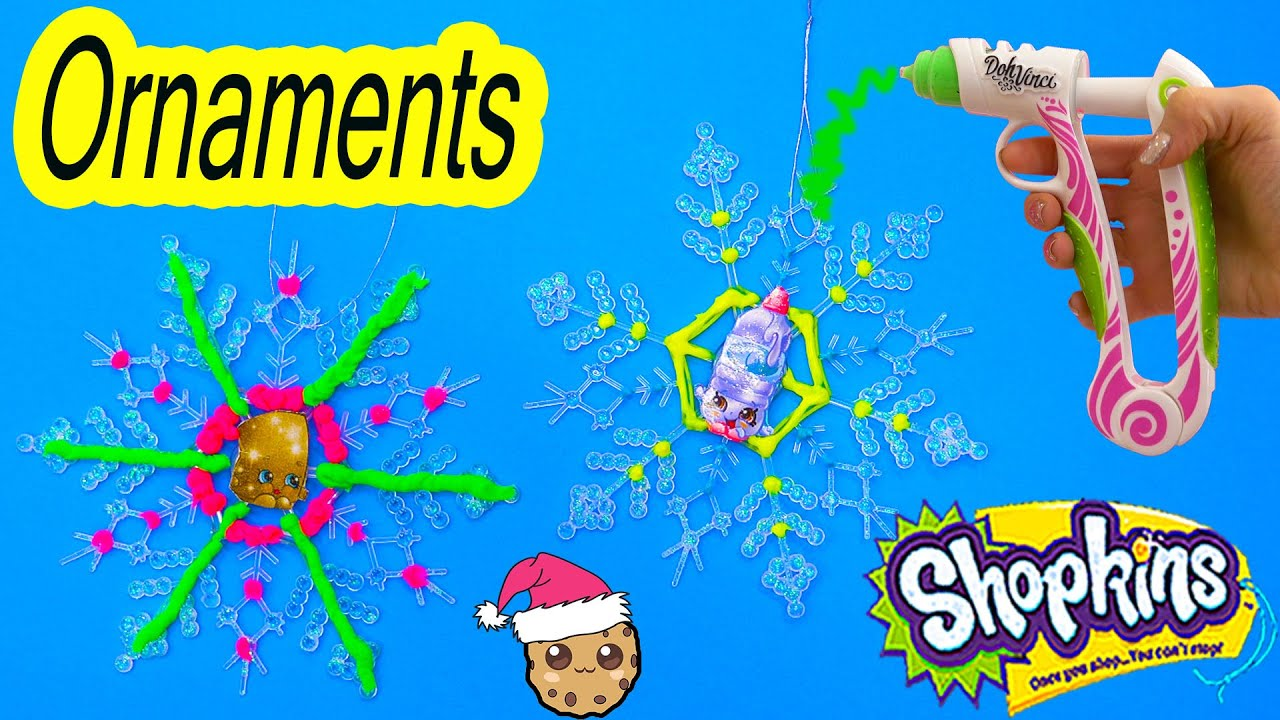 Shopkins diy simple craft holiday gifts snowflakes ornaments with shopkins diy simple craft holiday gifts snowflakes ornaments with dohvinci how to video youtube solutioingenieria Image collections