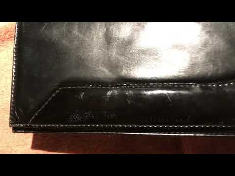 Cleaning patent leather, vintage Italian purse