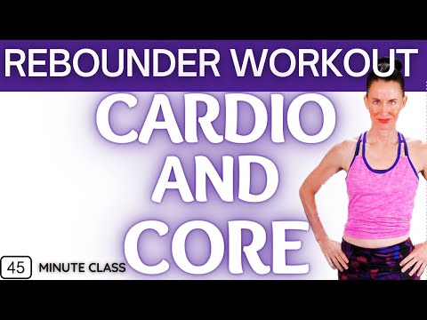 45 MINUTE WORKOUT | CARDIO REBOUNDER WORKOUT | REBOUNDING WEIGHT LOSS WORKOUT| BOUNCE FOR HEALTH