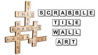 How to Make Scrabble Tile Wall Art (Gift Idea)