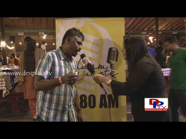 One of the MTS Committee members speaking to Desiplaza in Salam Namaste promotions