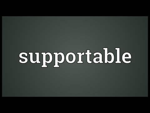 Header of supportable