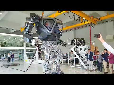 Korea Future Technology - Method V2 Piloted Mechanized Robot Testing [720p]
