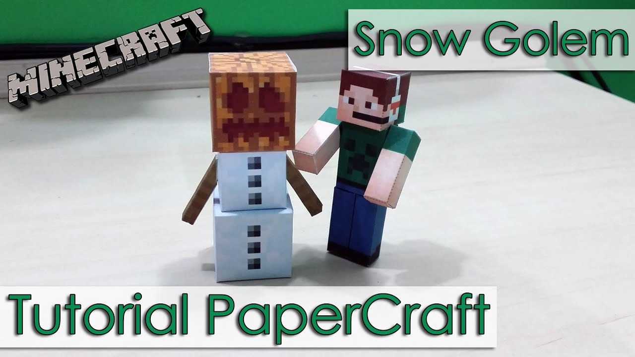 Papercraft Tutorial PaperCraft Minecraft - Golem de Gelo / Snow Golem