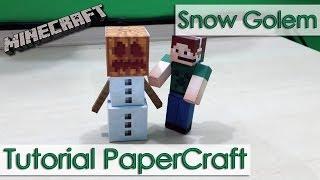Tutorial PaperCraft Minecraft - Golem de Gelo / Snow Golem