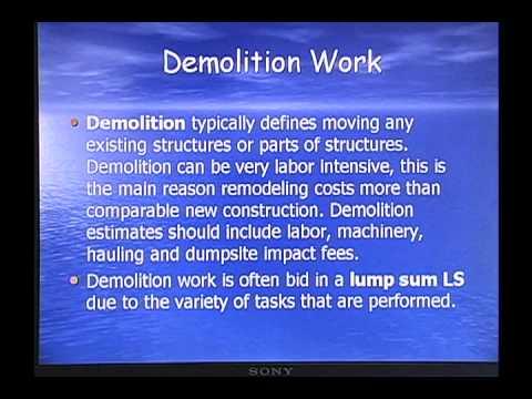Walker Estimator and  Site Work Part1
