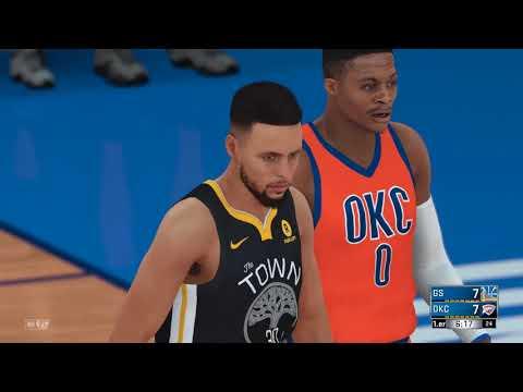 Oklahoma City Thunder VS Golden State Warriors | NBA 2K18