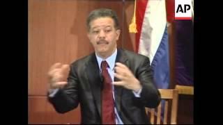 Dom Rep president visits, speech