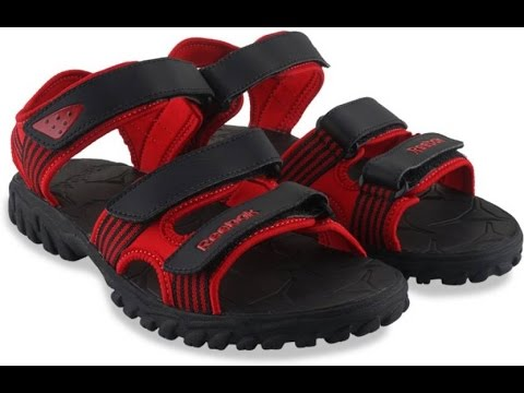 5f8fe2d883d6aa Review of Reebok Men BLACK RED Sports Sandals - YouTube