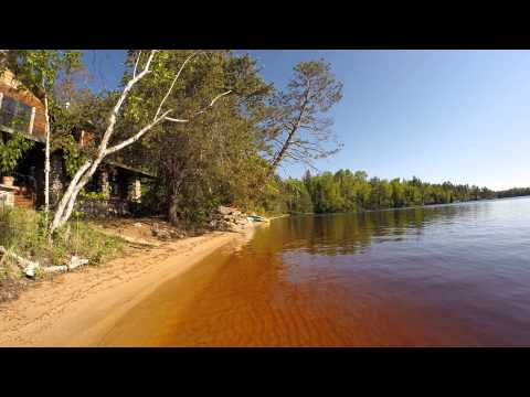 Beach At Creekside Cabin, Elbow Lake Lodge, Minnesota. VRBO#720264