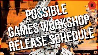 Possible Games Workshop Release Schedule Leaked