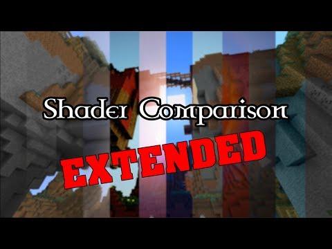Extended Minecraft Shader Comparison