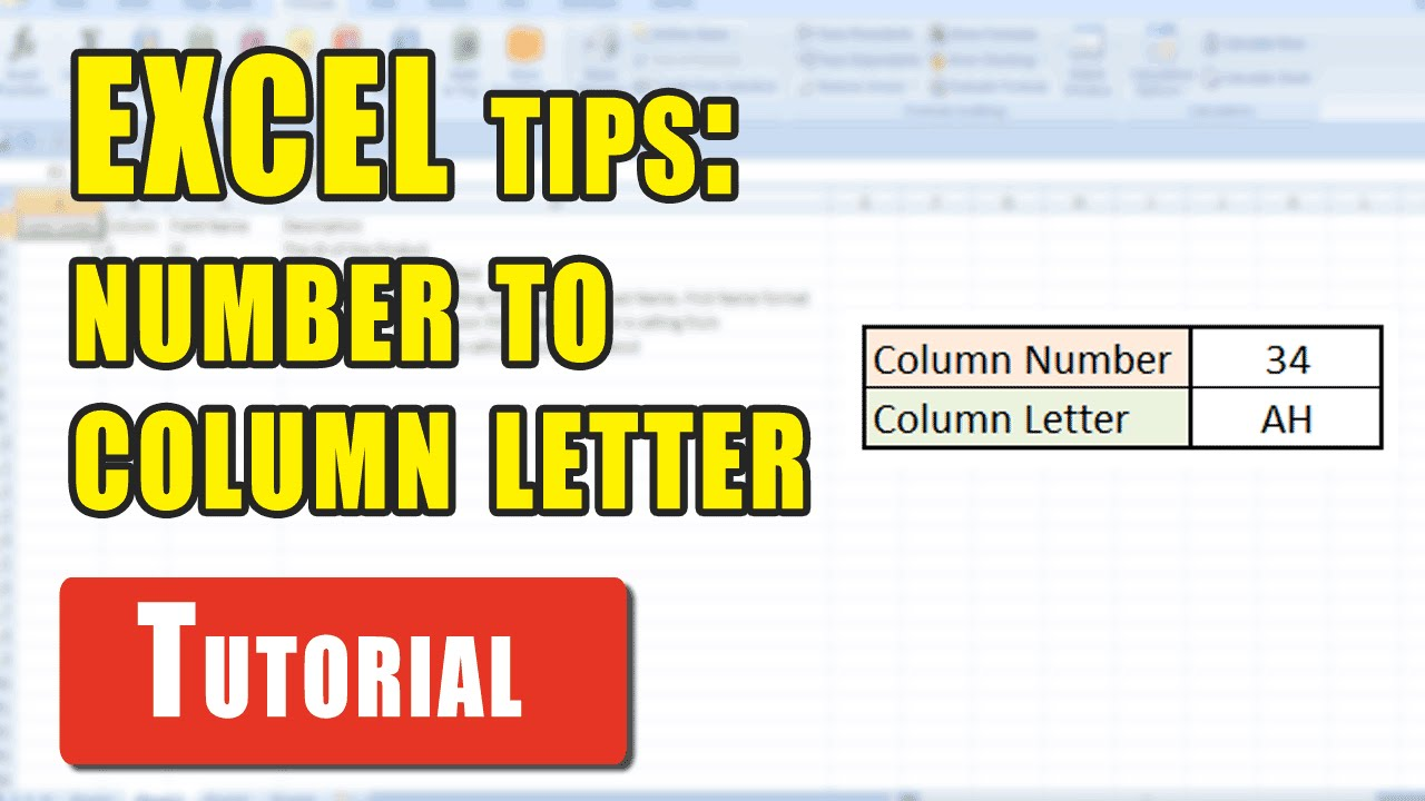 Excel Tips: How to convert a column number into an Excel column